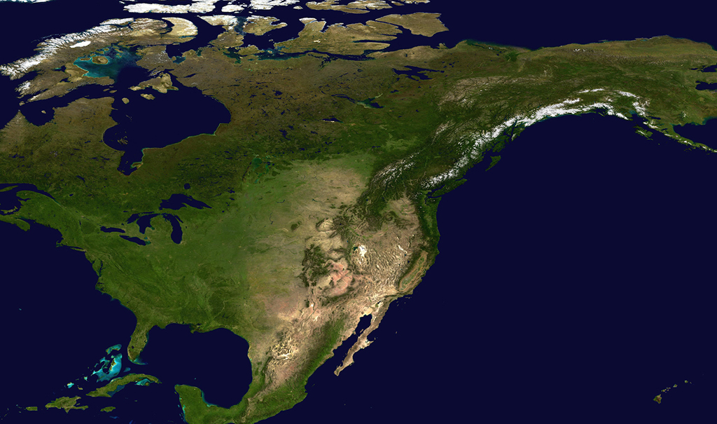 Satelline image of United States